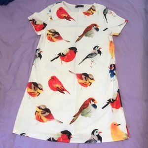 Cute Bird T-shirt Dress 🦅 Never Worn